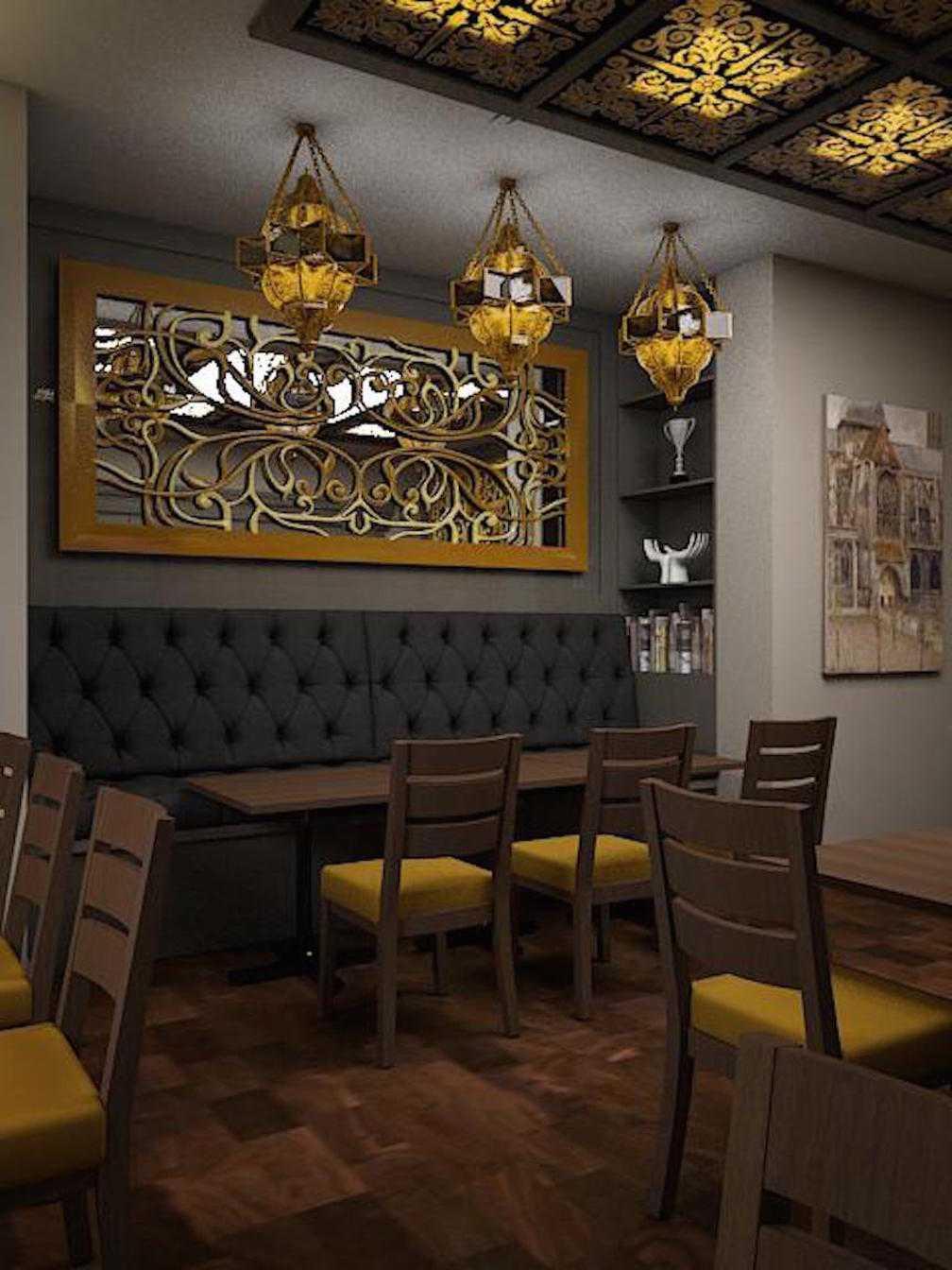 Foto inspirasi ide desain restoran tradisional Resto-cikajang dining room oleh Expo Tje. AA.AA.BSC.BA.MA di Arsitag