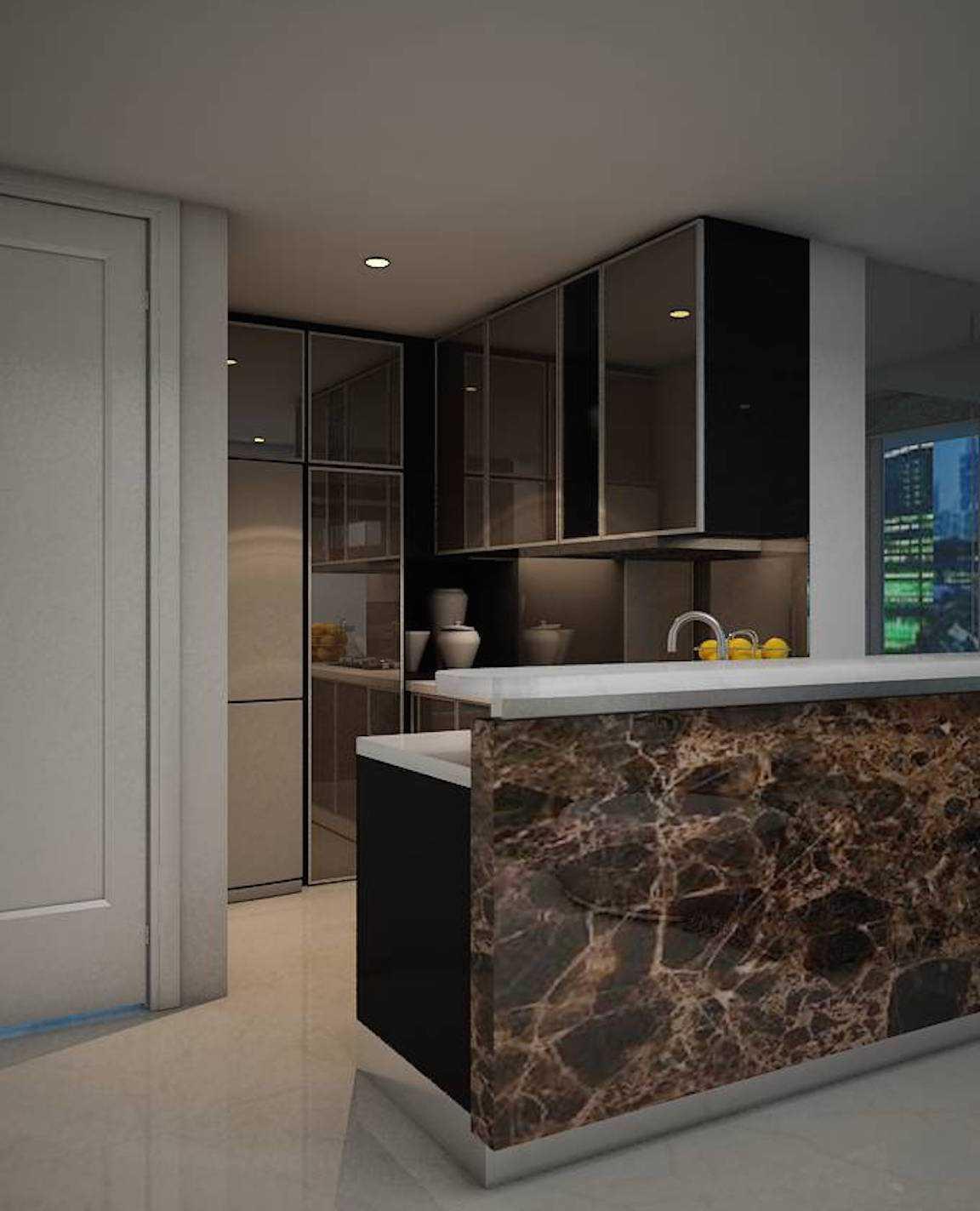Foto inspirasi ide desain dapur minimalis Pantry oleh Expo Tje. AA.AA.BSC.BA.MA di Arsitag
