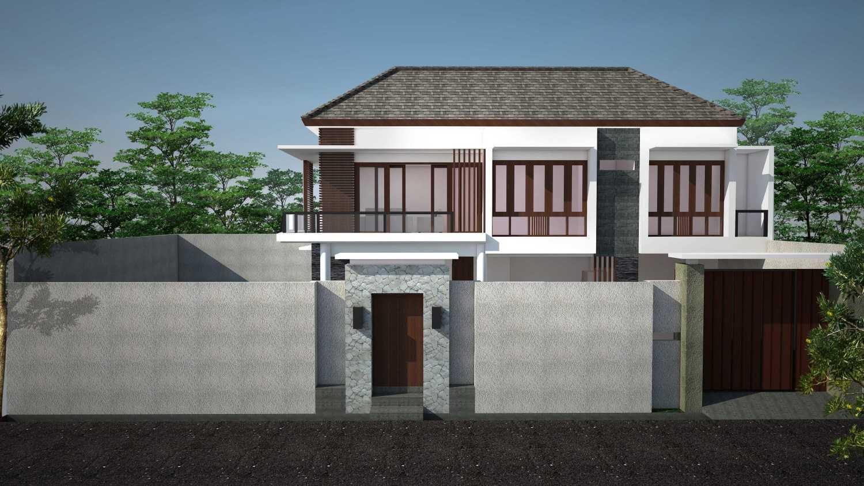 Cardia Architect Villa Surya Canggu, Bali Canggu, Bali Front Elevation From Street Modern 21765