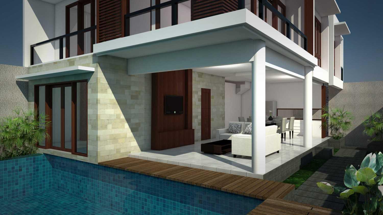 Cardia Architect Villa Surya Canggu, Bali Canggu, Bali Living Room From Pool Modern 21766