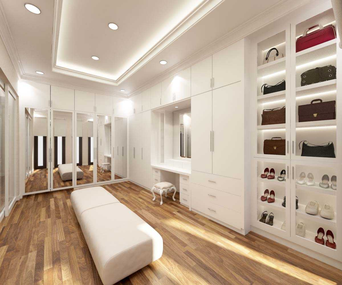 Valentine Oriza Modern Classic House Design Ketapang Regency, West Kalimantan, Indonesia Pontianak, West Kalimantan, Indonesia Walk-In-Closet-01 Kontemporer 30303