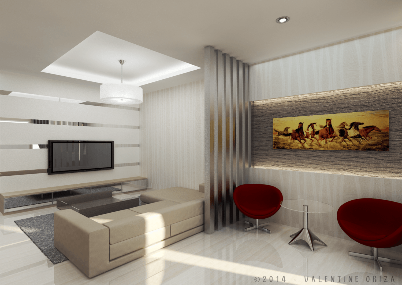 Valentine Oriza Modern Home  Jakarta, Indonesia Copyright-Living-Room-1  30377