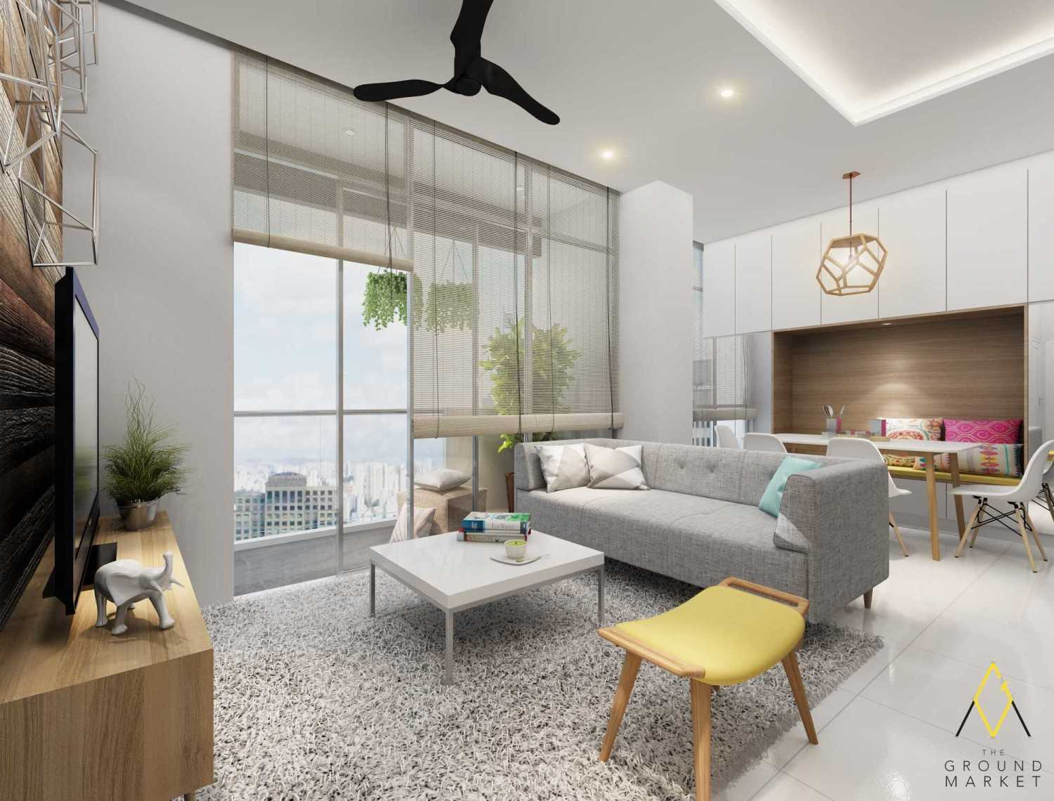 The Ground Market The Gianetti Apartment Jakarta Jakarta Living And Dining Area  19421