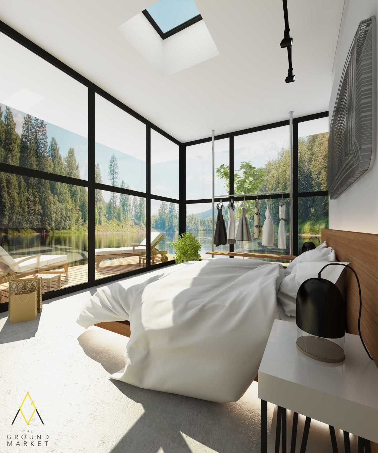 The Ground Market 3D Projects Jakarta Jakarta Bedroom With Stunning View Industrial 19452