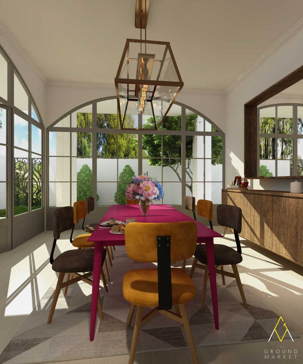 The Ground Market 3D Projects Jakarta Jakarta Dining Room Industrial 19455