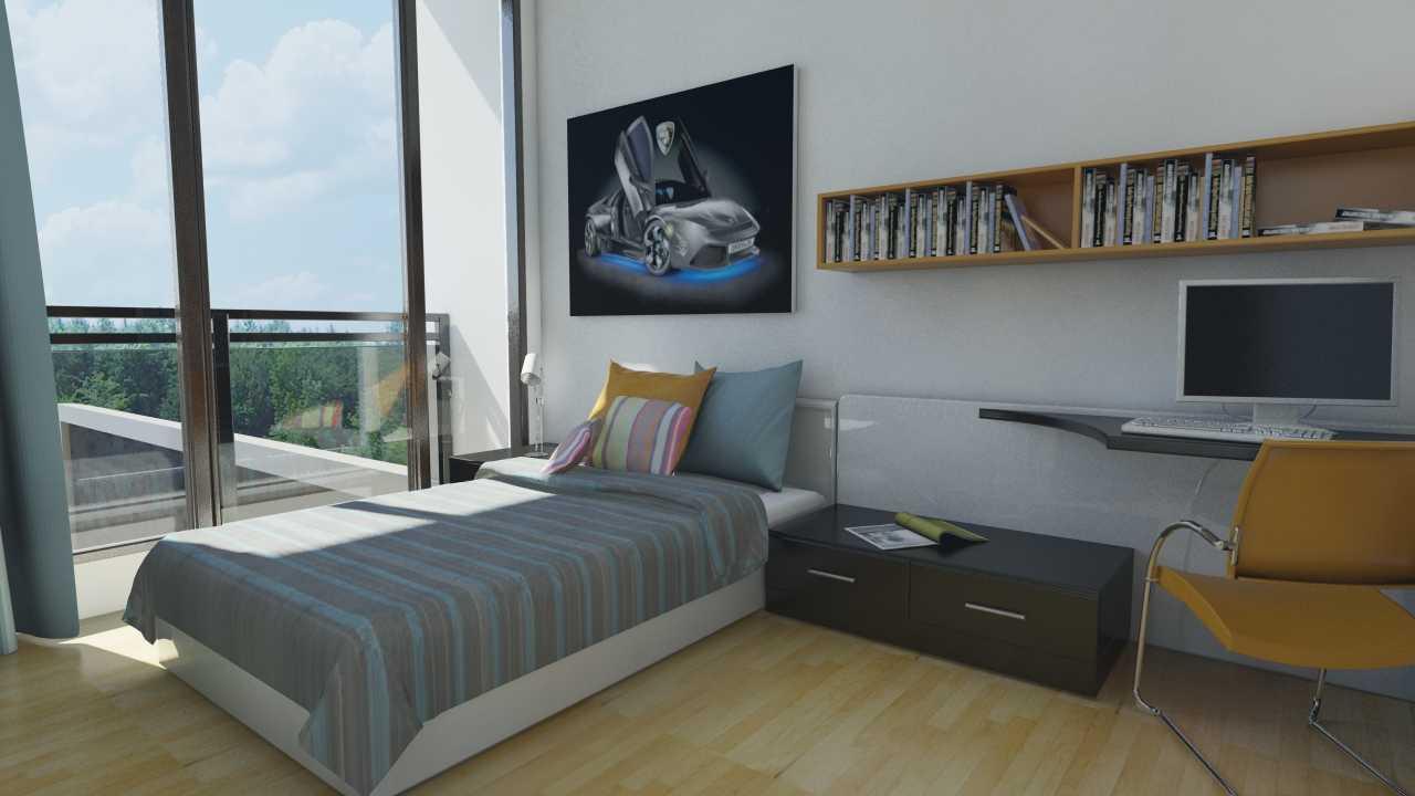 Foto inspirasi ide desain kamar tidur anak minimalis R-kamar-tidur-anak oleh Triasteri Interior and Design di Arsitag