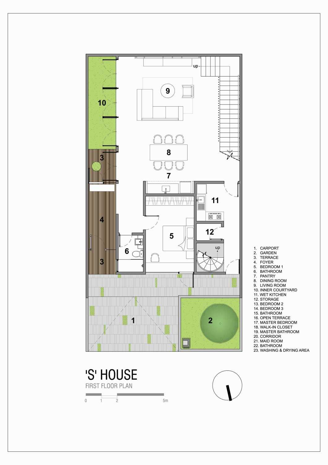 """Simple Projects Architecture """"s"""" House Pakuwon Indah, Surabaya - Indonesia Pakuwon Indah, Surabaya - Indonesia Shouse-First-Floor-Plan  45727"""