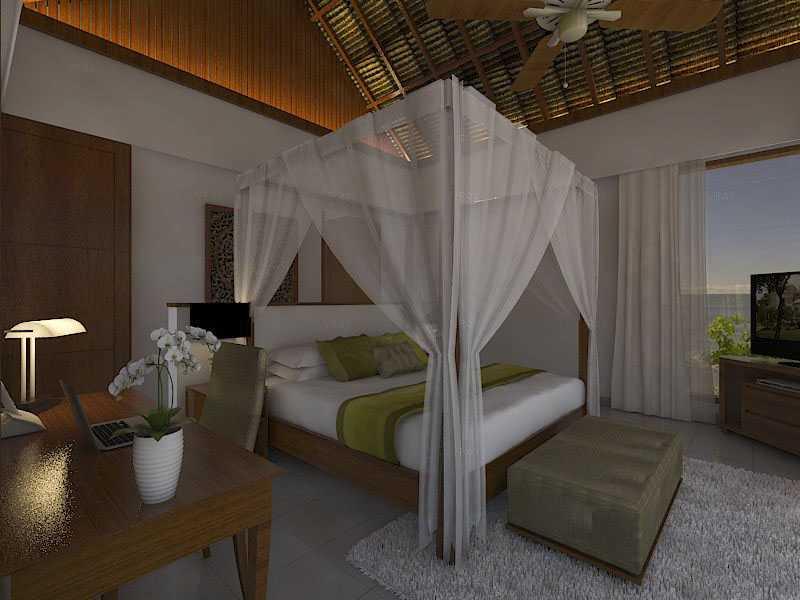 Foto inspirasi ide desain kamar tidur tropis 2nd-floor-bedroom oleh Bagus sakabhaskara di Arsitag