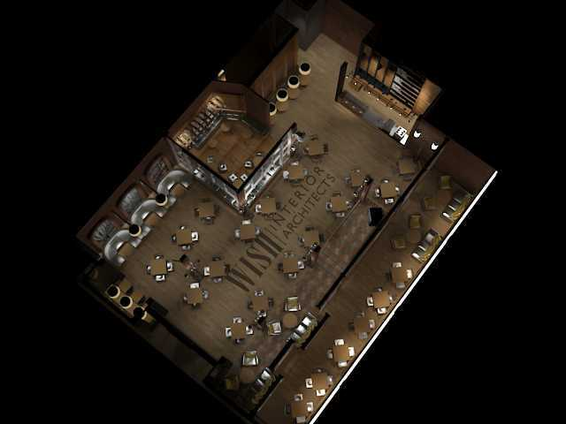 Wish Interior+Architects Coffee Shop Design Project Classified Classified Denah-3D-  20604
