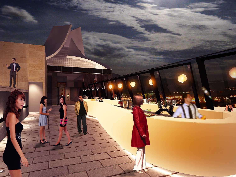 Mark Associates Grand Edge Hotel Semarang, Central Java, Indonesia Semarang, Central Java, Indonesia Roof Top Bar  26153