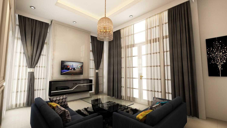 Foto inspirasi ide desain ruang keluarga victorian T's house living room oleh Tridivan Architama di Arsitag