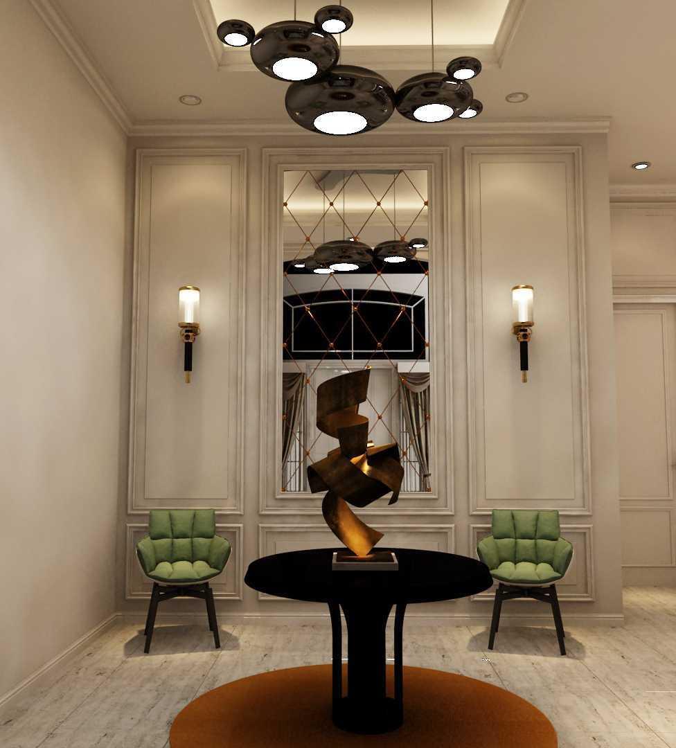 Foto inspirasi ide desain koridor dan lorong klasik T's house foyer oleh Tridivan Architama di Arsitag
