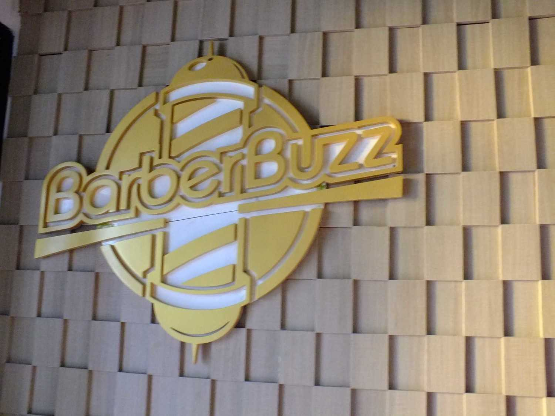 Canvas Mkc Barberbuzz - Barbershop Tangerang Tangerang Barbershop Logo  20877