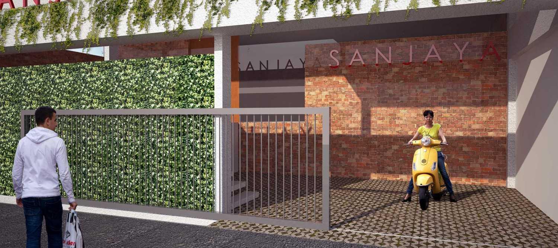 Foto inspirasi ide desain pintu masuk tropis Entrance 1 oleh RUPAKARA AKARSANA di Arsitag