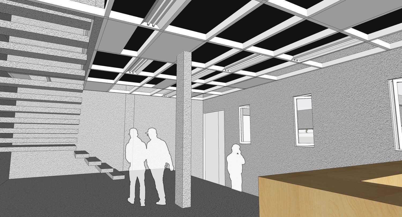 Foto inspirasi ide desain lobby tropis Packing + lobby oleh RUPAKARA AKARSANA di Arsitag
