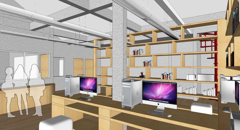 Foto inspirasi ide desain ruang kerja tropis Working space oleh RUPAKARA AKARSANA di Arsitag