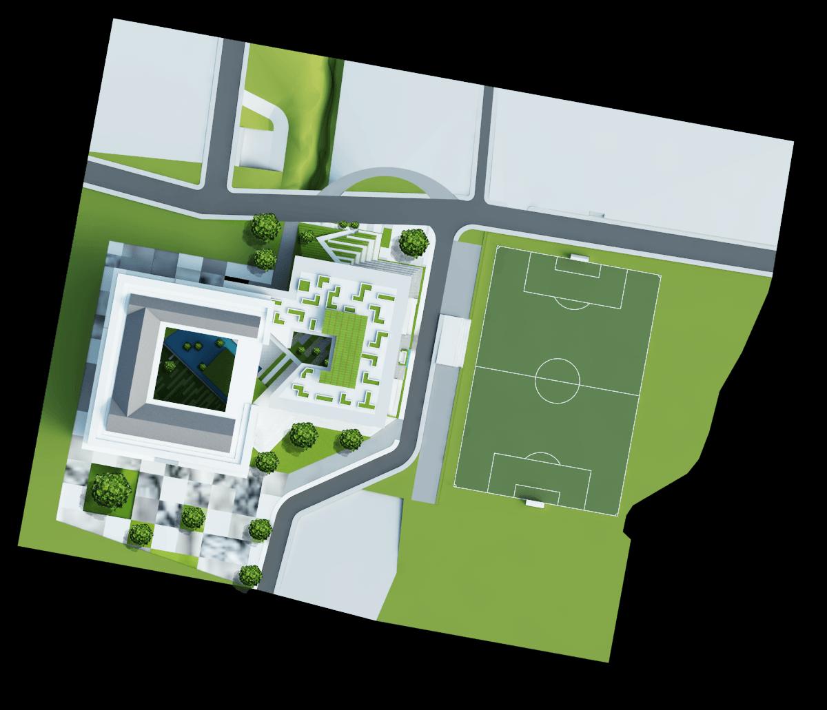 Astabumi Architect & Interior Design Fakultas Hukum Universitas Islam Indonesia Yogyakarta Yogyakarta Site-Plan-Fix  21168