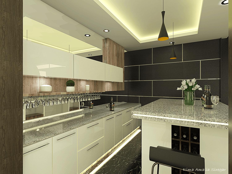 Foto inspirasi ide desain dapur minimalis Pantry oleh ARTELIER di Arsitag