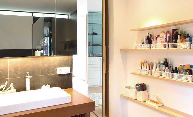 Foto inspirasi ide desain kamar mandi skandinavia Master bathroom oleh Inspace Studio di Arsitag