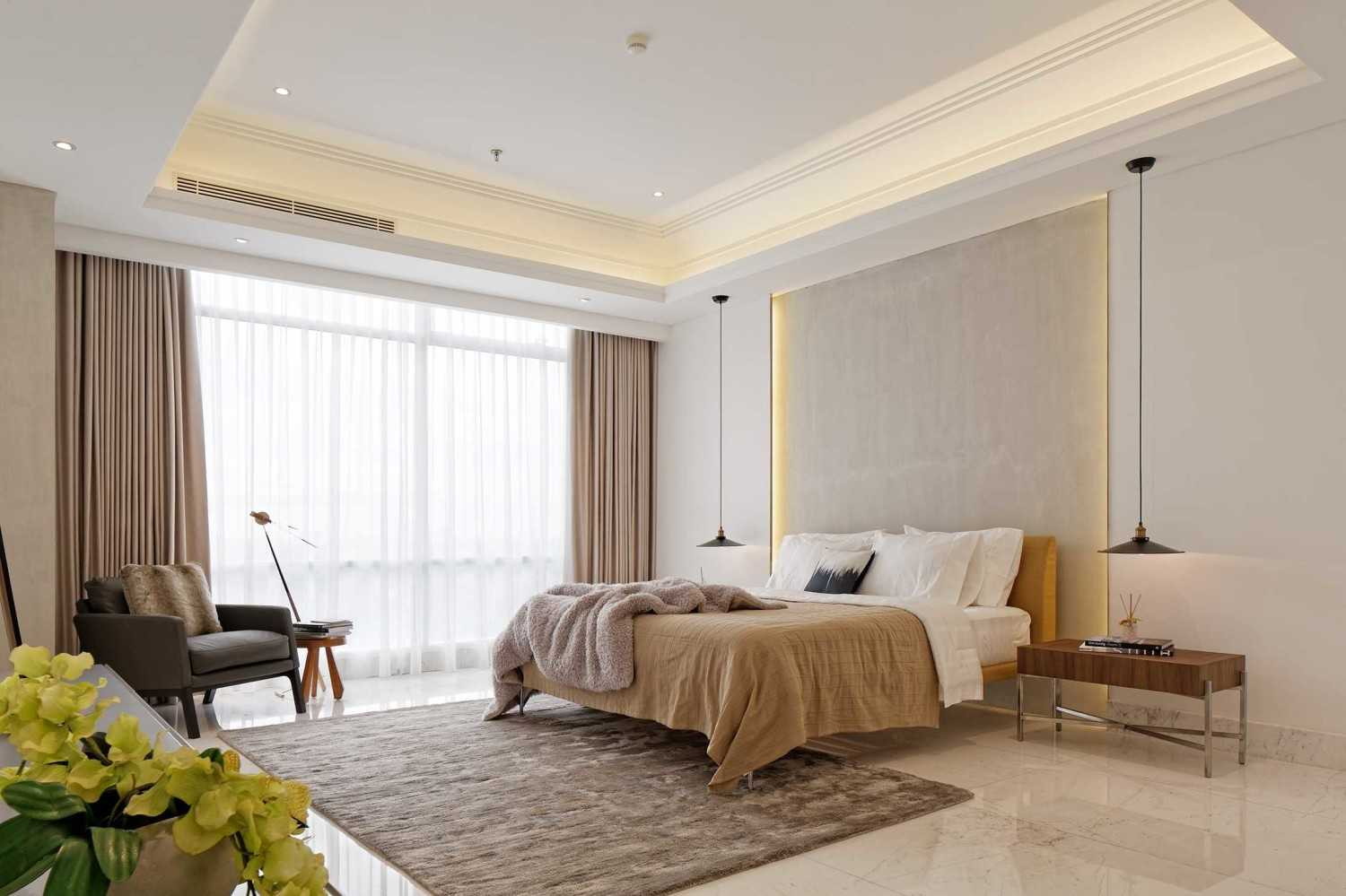 Sontani Partners 11A Residence South Jakarta, Indonesia South Jakarta, Indonesia Master Bedroom Kontemporer,industrial,wood,modern 21402