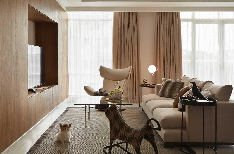 Sontani Partners 2E Residence South Jakarta South Jakarta Family Room Kontemporer,industrial,tropis,wood,modern 21435