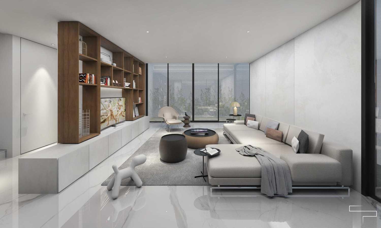 Sontani Partners Guru Mughni Residence Mega Kuningan, Jakarta Mega Kuningan, Jakarta Living Room Kontemporer,modern 23386