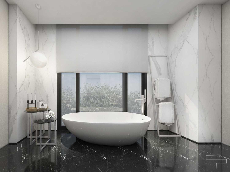 Sontani Partners Guru Mughni Residence Mega Kuningan, Jakarta Mega Kuningan, Jakarta Master Bathroom Kontemporer,modern 23389