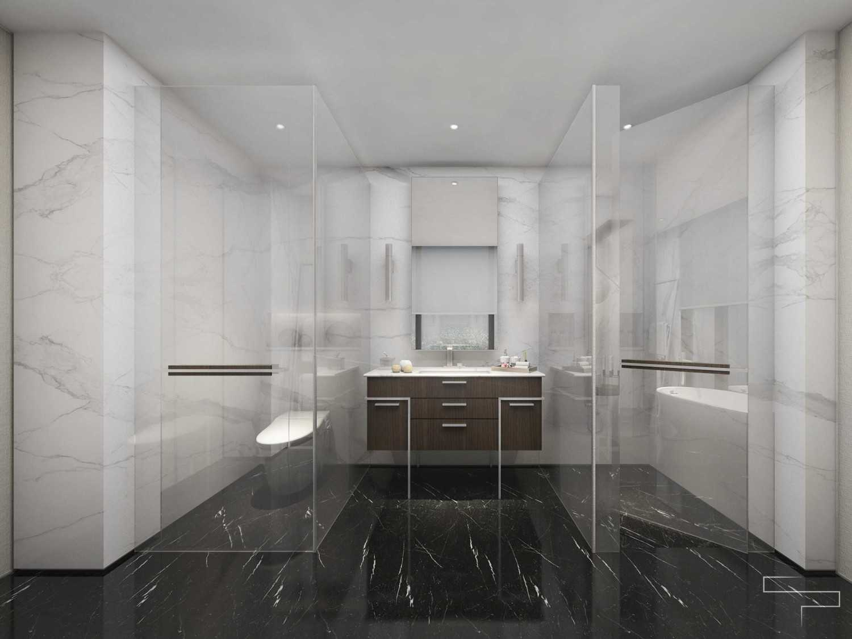 Sontani Partners Guru Mughni Residence Mega Kuningan, Jakarta Mega Kuningan, Jakarta Master Bathroom Kontemporer,modern 23390