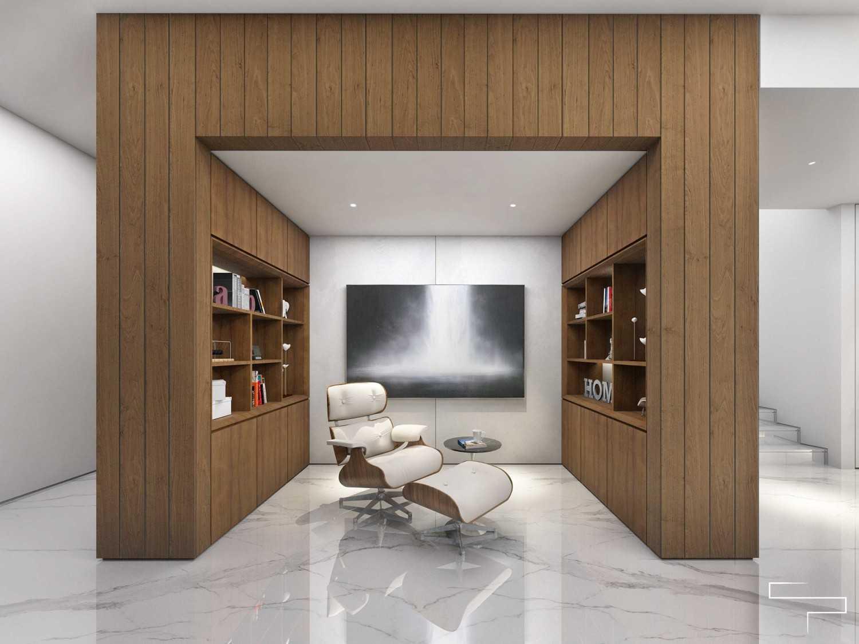 Foto inspirasi ide desain ruang belajar minimalis Study room oleh Sontani Partners di Arsitag