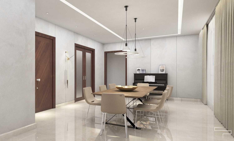 Foto inspirasi ide desain apartemen kontemporer Dining room oleh Sontani Partners di Arsitag