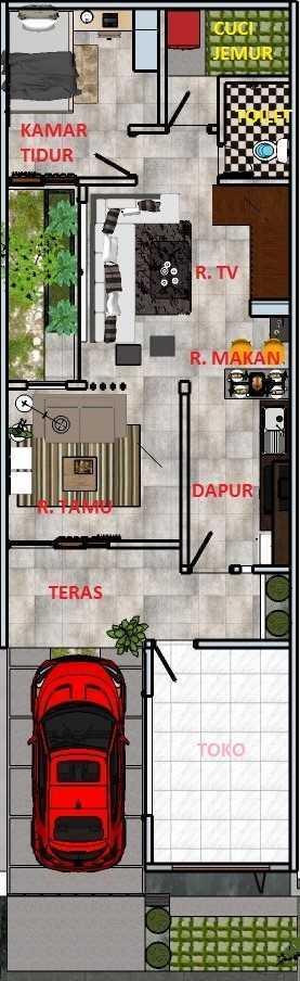Freddy Rumah Kalibata Kalibata - Jakarta Kalibata - Jakarta Denah-L1  22781