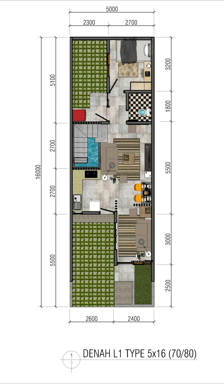 Freddy Rumah Gonilan Surakarta Surakarta Denah-Type-5X16L1  22798
