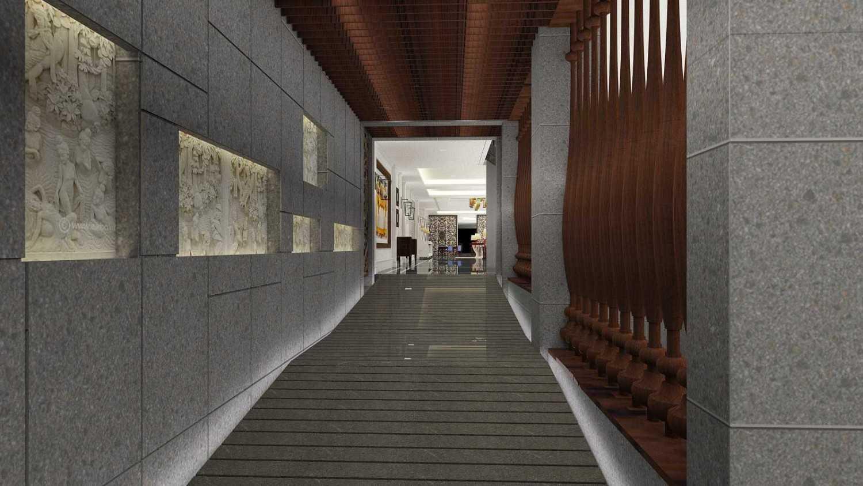 Foto inspirasi ide desain koridor dan lorong kontemporer Lobby oleh PT. GARISPRADA di Arsitag