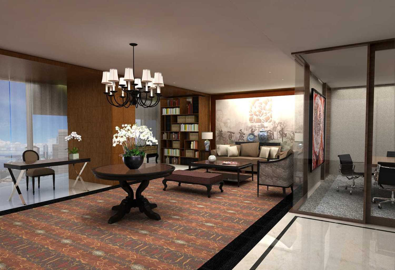 Foto inspirasi ide desain kantor klasik Executive-lounge-2 oleh PT. GARISPRADA di Arsitag