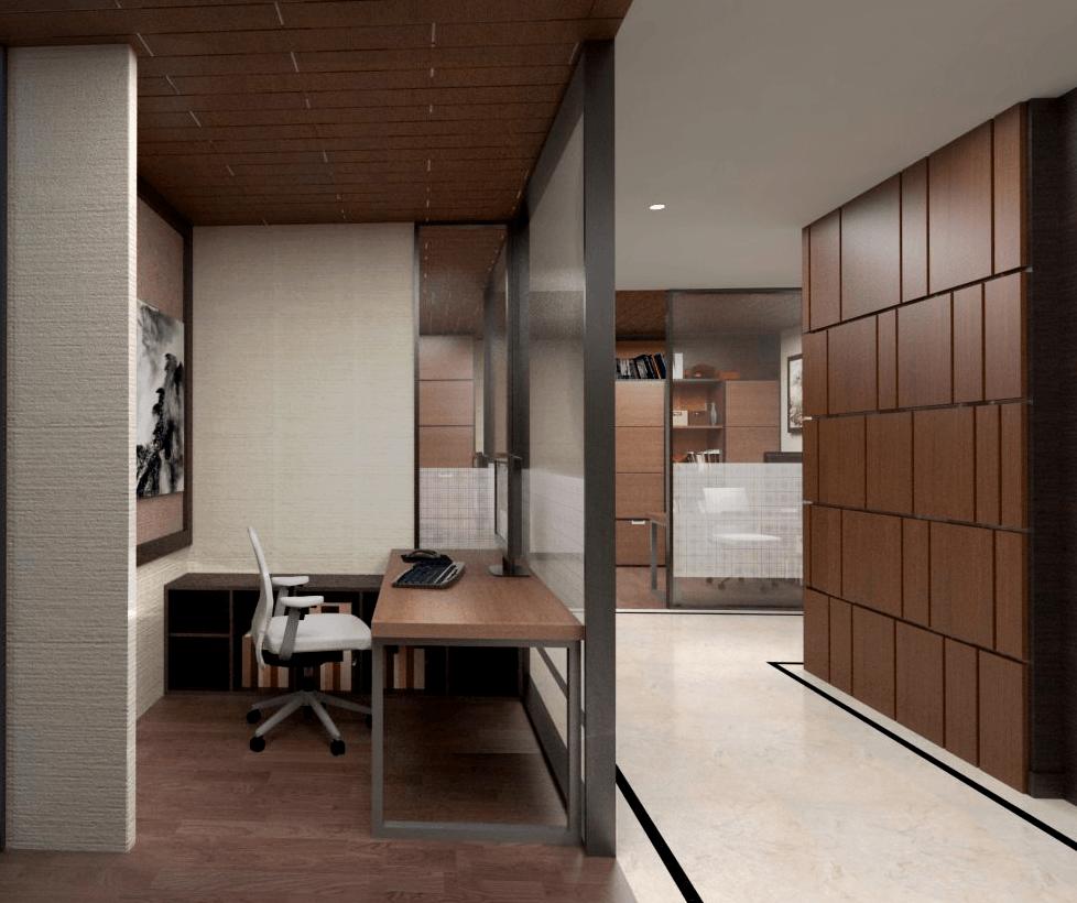 Foto inspirasi ide desain ruang kerja klasik Secretary-1 oleh PT. GARISPRADA di Arsitag