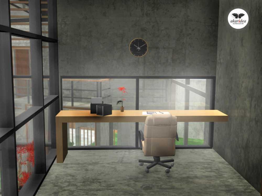 Foto inspirasi ide desain ruang kerja tropis Working room oleh Antoni Winata di Arsitag