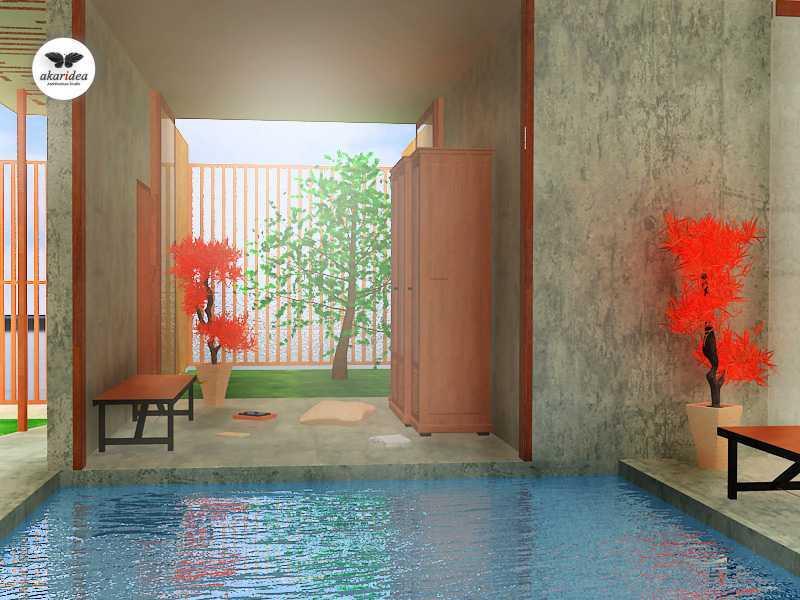 Foto inspirasi ide desain perpustakaan tropis Library oleh Antoni Winata di Arsitag