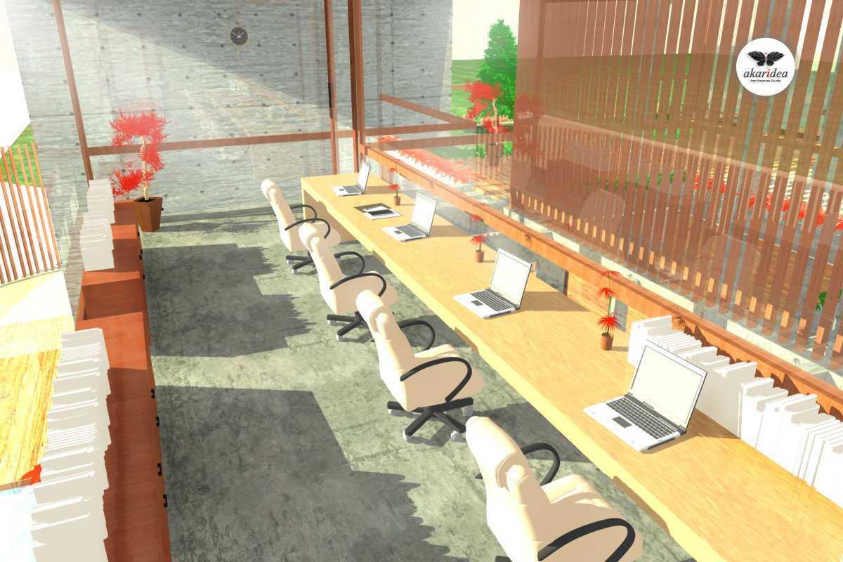 Foto inspirasi ide desain ruang kerja tropis Studio office oleh Antoni Winata di Arsitag