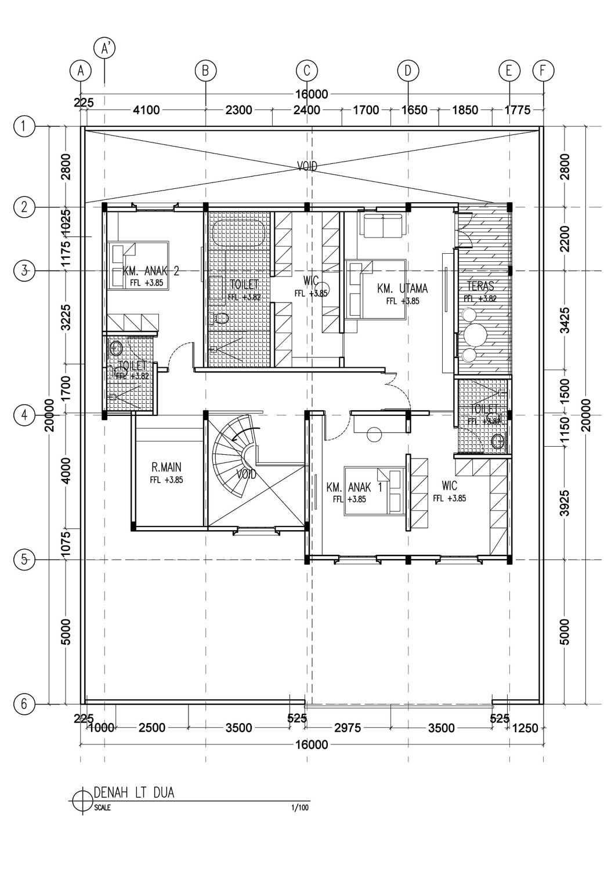 Segitiga Studio Rumah A Jakarta, Indonesia  Denah-Jpg-Copy-3  32706