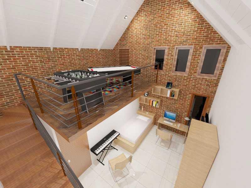 Rqt8 Brick House Jakarta, Indonesia Jakarta Kamar-Tidur-Anak-1-2 Modern 22604
