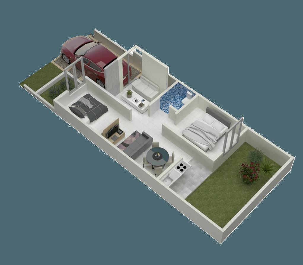 Rqt8 Jasmine View Residence Bogor, Jawa Barat, Indonesia Bogor, Jawa Barat, Indonesia Tipe 45 Floorplan Minimalis 40906