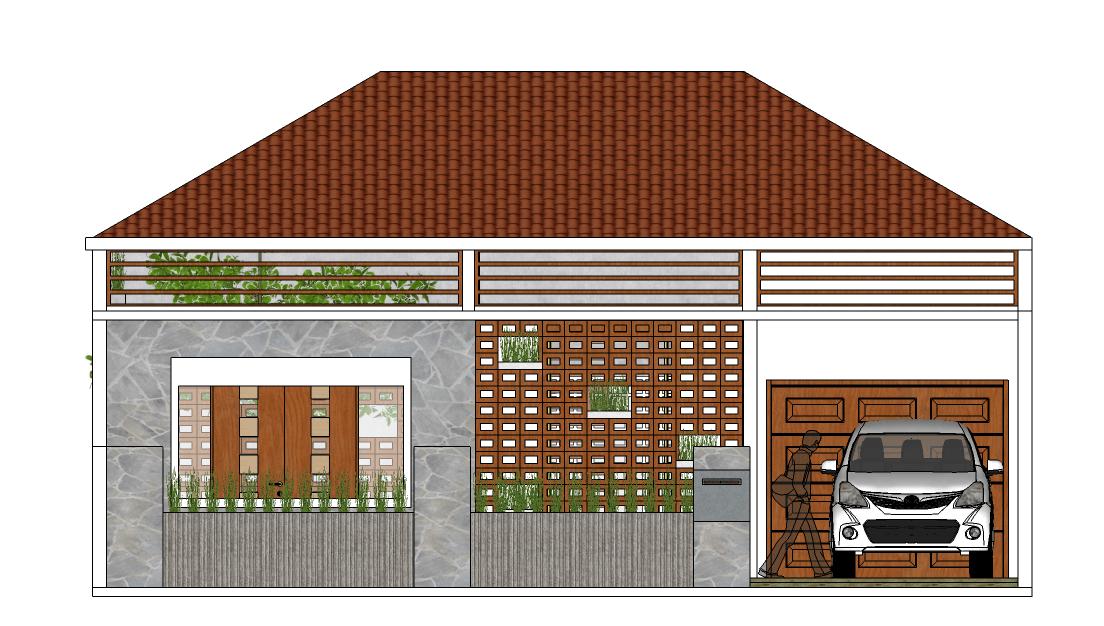 Vishaka Architect Studio Rumah A5 Sleman Regency, Special Region Of Yogyakarta, Indonesia Sleman Regency, Special Region Of Yogyakarta, Indonesia Tampak-Depan  32492