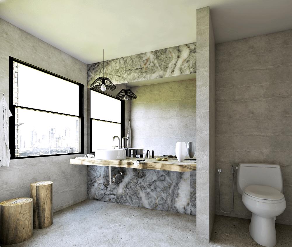 Hive Design & Build Four Seasons Apartment  Jakarta Jakarta Bathroom Minimalis 25951