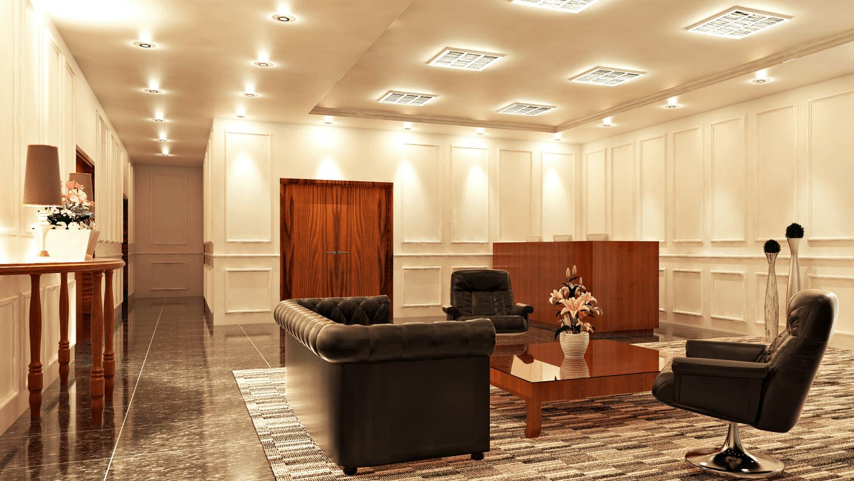 Foto inspirasi ide desain ruang meeting klasik Lobby oleh Hive Design & Build di Arsitag