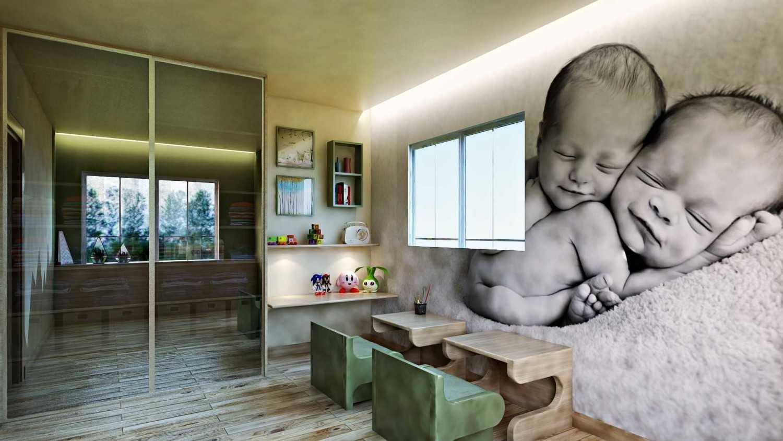 Foto inspirasi ide desain apartemen skandinavia Kids bedroom oleh Hive Design & Build di Arsitag