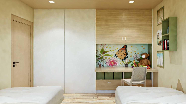 Hive Design & Build Kamar Anak Permata Hijau Jakarta Barat Jakarta Barat Kids Bedroom Skandinavia 26569