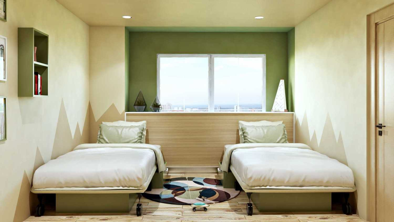 Hive Design & Build Kamar Anak Permata Hijau Jakarta Barat Jakarta Barat Kids Bedroom Skandinavia 26571