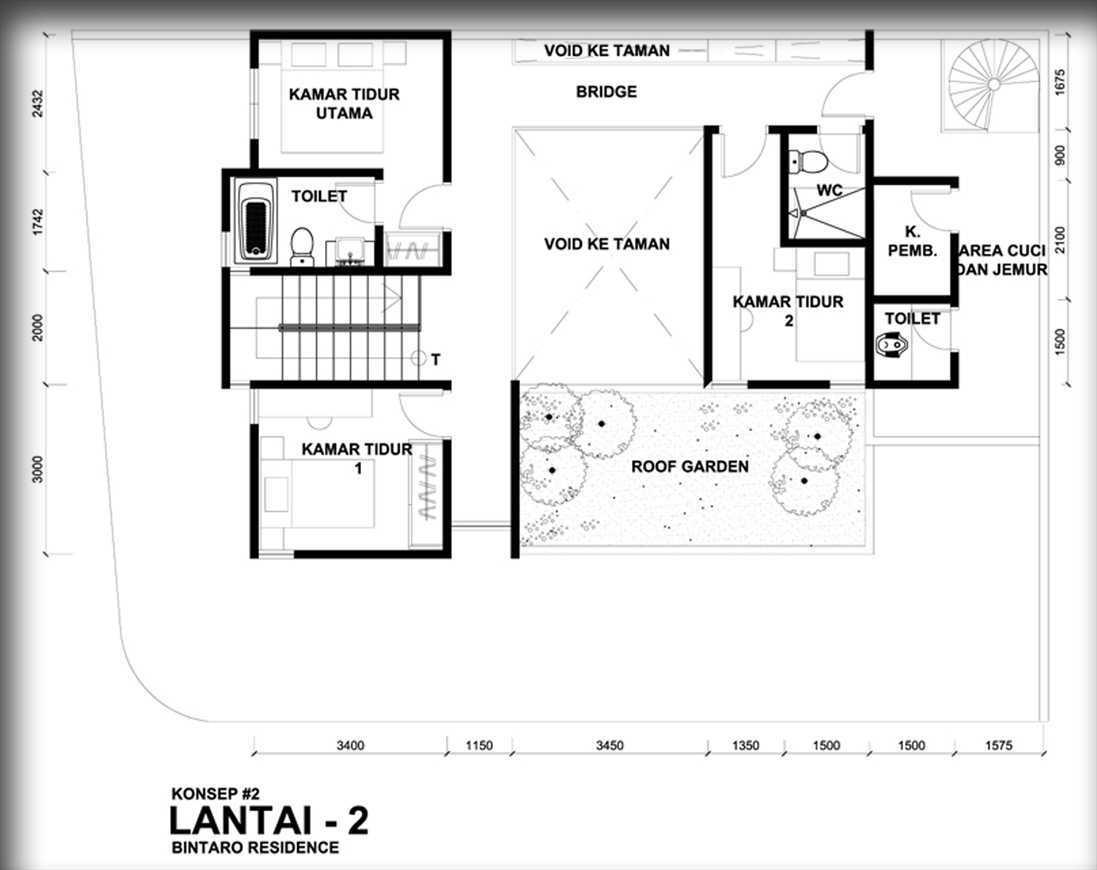 Bral Architect Bintaro House Bintaro, Pesanggrahan, South Jakarta City, Jakarta, Indonesia Bintaro Denah Modern 24847