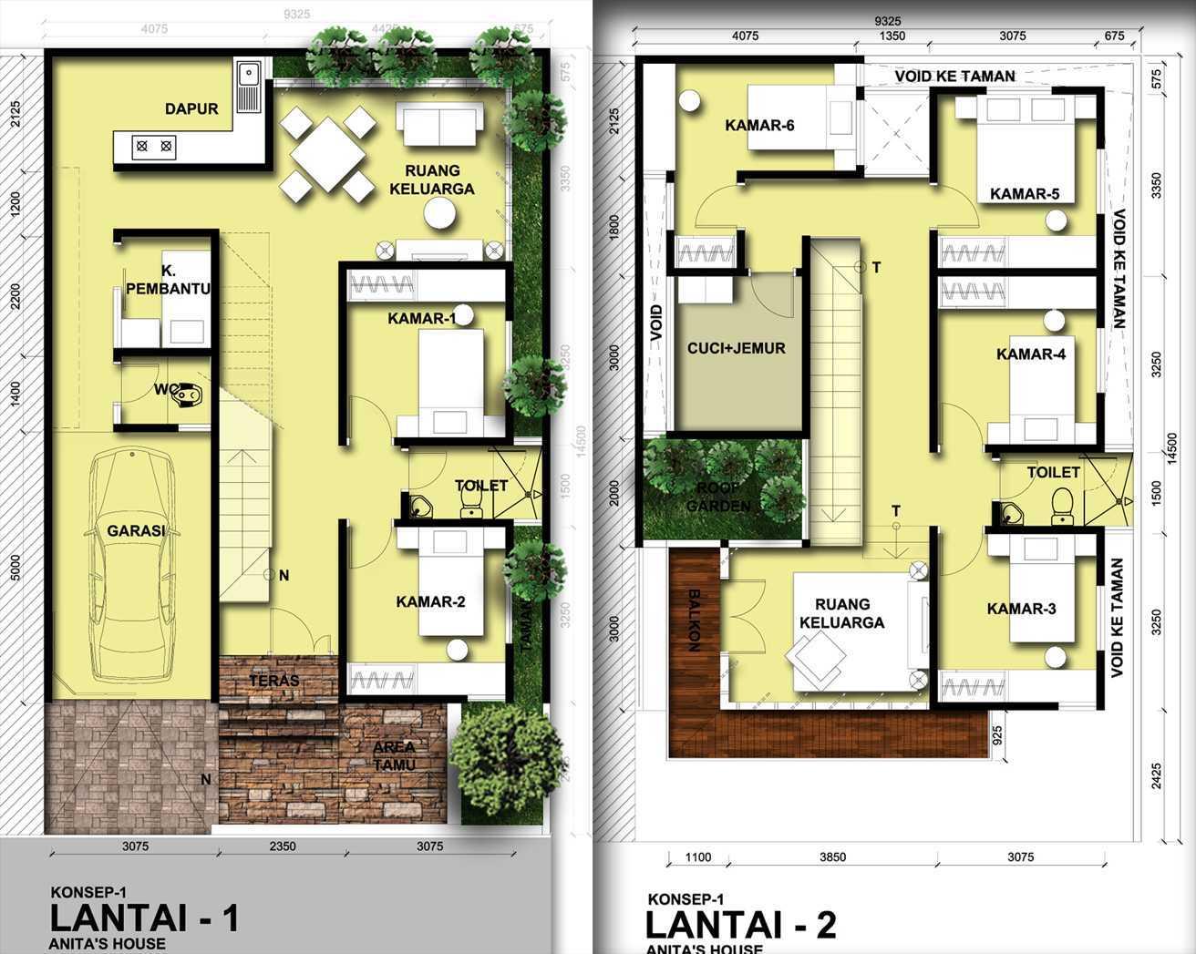 Indra Gunadi Anita House Bandung, Bandung City, West Java, Indonesia Bandung Denah Modern 24829