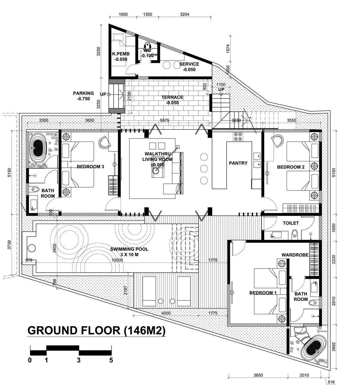 Indra Gunadi Villa Ubud Ubud, Gianyar, Bali, Indonesia Ubud, Bali Plan-Ubud-1  25803